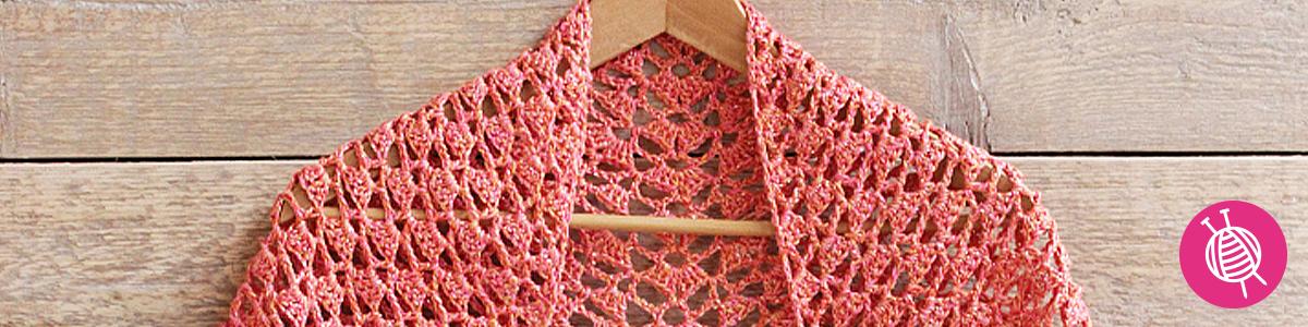 Zijden zomersjaal haken met Knit Collage