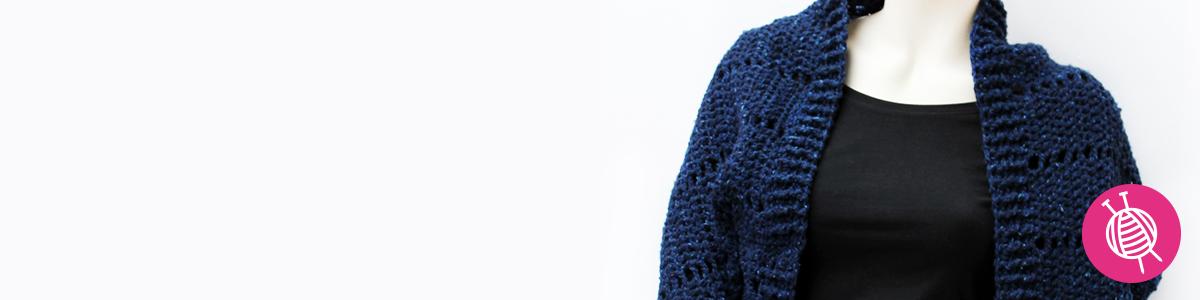 Shrug haken met Lana Grossa Royal Tweed