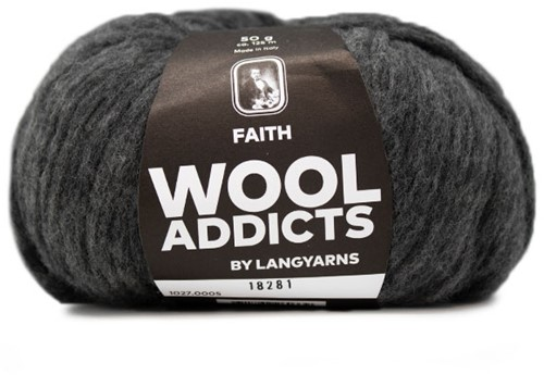 Wooladdicts Wild Wandress Trui Breipakket 3 XL Grey Mélange