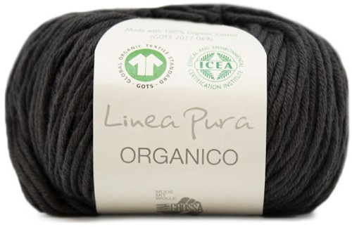 Lana Grossa Organico Uni 121 Black/Brown