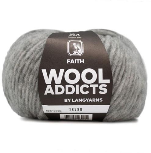 Wooladdicts Unique Mosaic Sjaal Haakpakket 1 Light Grey Mélange