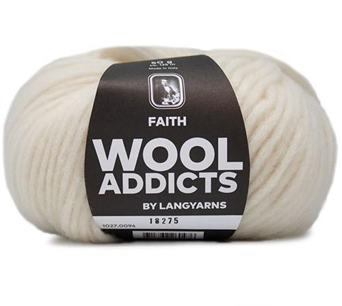 Wooladdicts Unique Mosaic Sjaal Haakpakket 10 Off-White