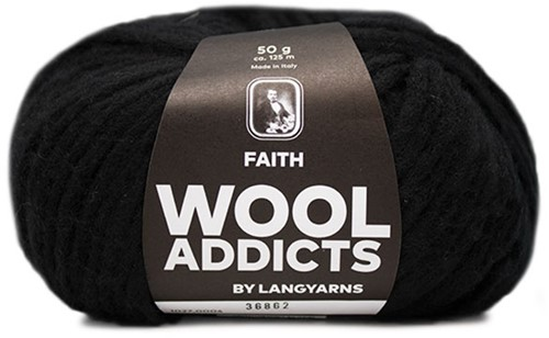Wooladdicts Unique Mosaic Sjaal Haakpakket 2 Black