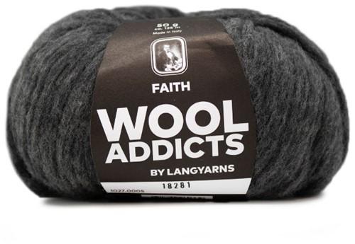 Wooladdicts Unique Mosaic Sjaal Haakpakket 3 Grey Mélange