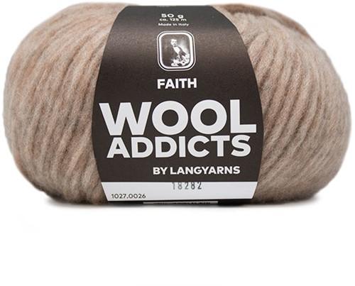 Wooladdicts Unique Mosaic Sjaal Haakpakket 6 Beige