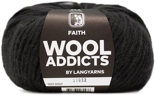 Wooladdicts Unique Mosaic Sjaal Haakpakket 8 Dark Brown