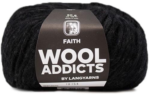 Wooladdicts Unique Mosaic Sjaal Haakpakket 9 Anthracite