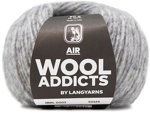 Wooladdicts City Life Trui Breipakket 1 L Light Grey Mélange