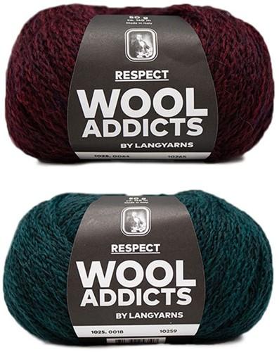 Wooladdicts Hidden Feelings Trui Breipakket 1 XL Moss Mélange / Sunset
