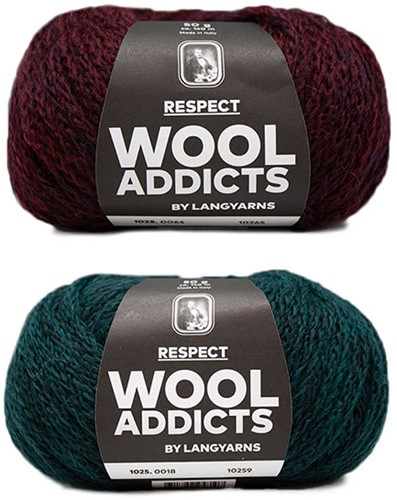 Wooladdicts Hidden Feelings Trui Breipakket 1 M Moss Mélange / Sunset
