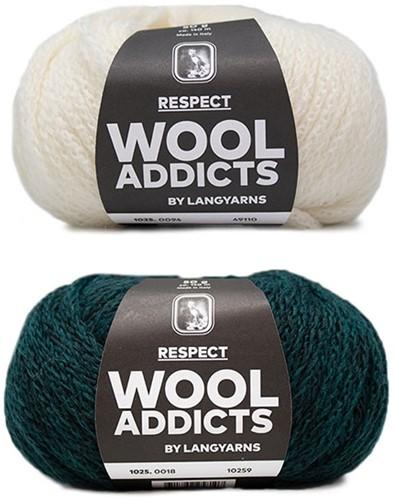 Wooladdicts Hidden Feelings Trui Breipakket 2 M Moss Mélange / Off-White