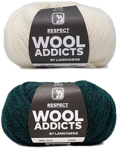 Wooladdicts Hidden Feelings Trui Breipakket 2 L Moss Mélange / Off-White