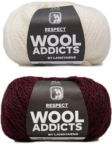 Wooladdicts Hidden Feelings Trui Breipakket 3 XL Sunset / Off-White