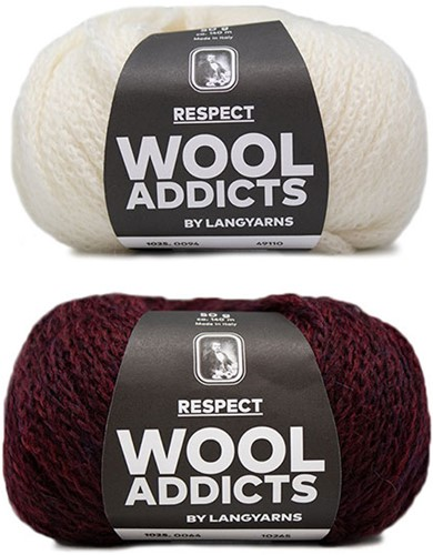 Wooladdicts Hidden Feelings Trui Breipakket 3 L Sunset / Off-White