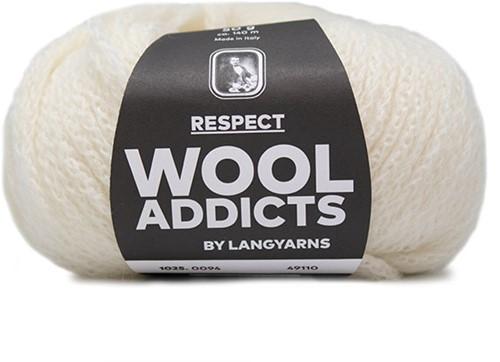 Wooladdicts Seductive Secret Vest Breipakket 10 XL Off-White