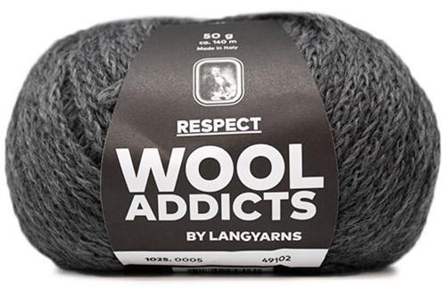 Wooladdicts Seductive Secret Vest Breipakket 3 M Grey Mélange
