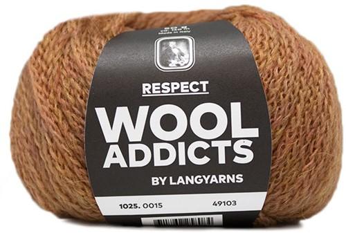 Wooladdicts Seductive Secret Vest Breipakket 4 M Amber Mélange