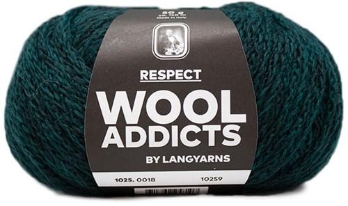 Wooladdicts Seductive Secret Vest Breipakket 5 L Moss Mélange