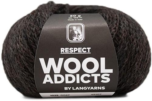 Wooladdicts Seductive Secret Vest Breipakket 8 XL Dark Brown