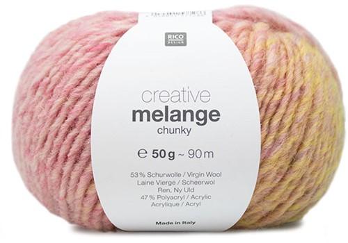 Creative Melange Chunky Trui Breipakket 2 48 Pink-Yellow