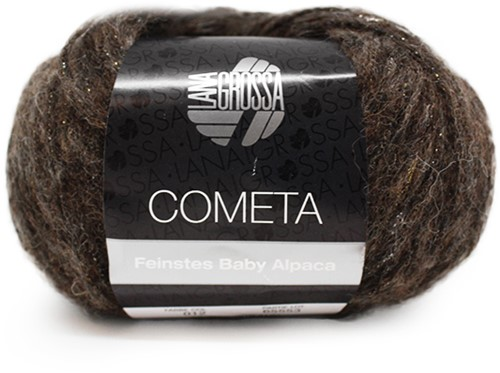 Lana Grossa Cometa 12 Black-Brown / Gold / Silver