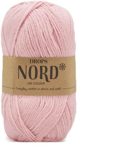 Drops Nord Uni Colour 12 Powder-pink