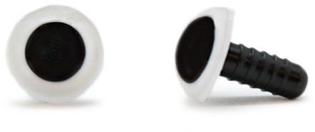 Veiligheidsogen Wit 12mm per paar