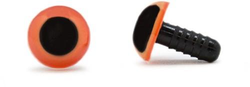 Veiligheidsogen Oranje 12mm per paar