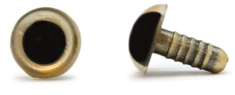 Veiligheidsogen Goud 12mm per paar