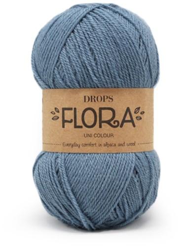 Drops Flora Uni Colour 13 Denim Blue