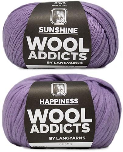 Wooladdicts Empty Promise Tas Breipakket 2 Lilac