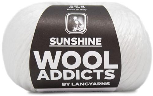 Wooladdicts Perfect Puzzle T-Shirt Haakpakket 1 L White