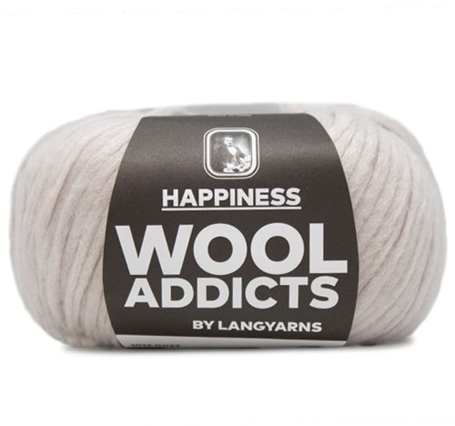 Wooladdicts Thankful Thought Vest Breipakket 3 L Silver