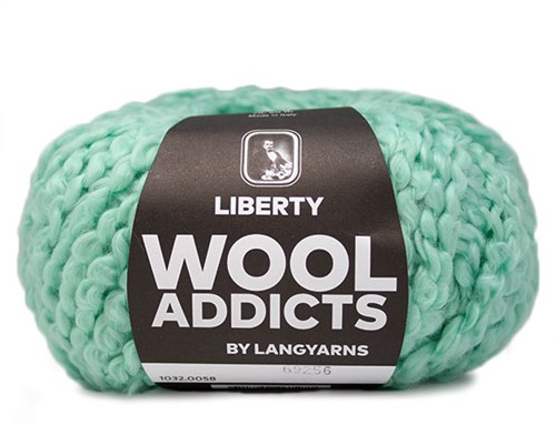 Wooladdicts Kind Knitter Driehoek Sjaal Breipakket 6 Mint
