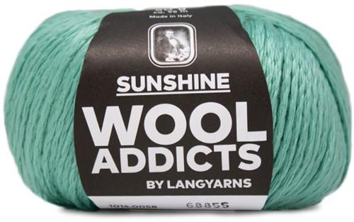 Wooladdicts Simply Shine Vest Breipakket 6 S/M Mint