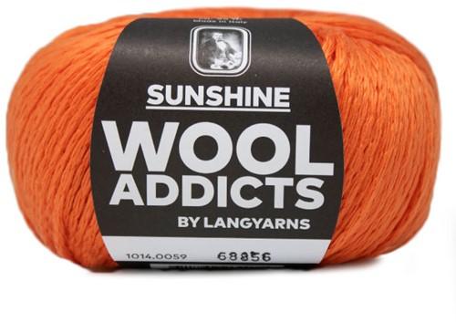 Wooladdicts Simply Shine Vest Breipakket 7 L/XL Orange