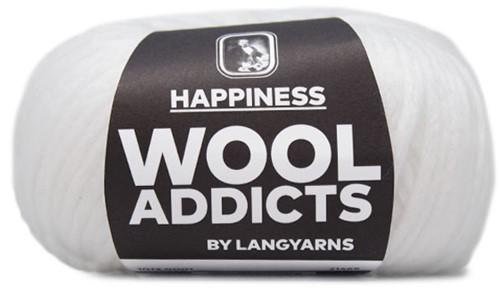 Wooladdicts Happy Habit Vest Breipakket 1 S White