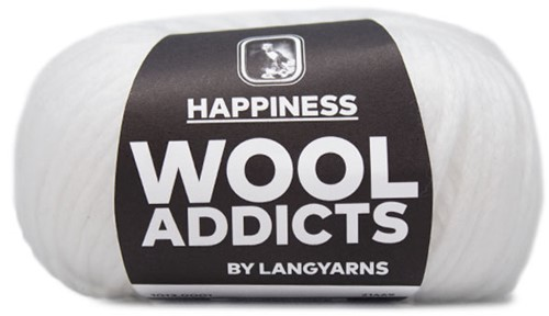 Wooladdicts Happy Habit Vest Breipakket 1 XL White