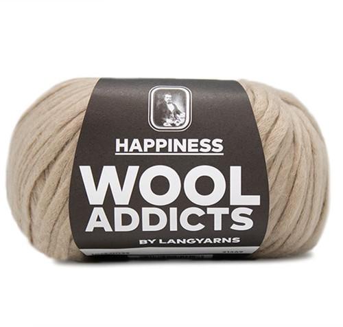 Wooladdicts Happy Habit Vest Breipakket 5 L Camel
