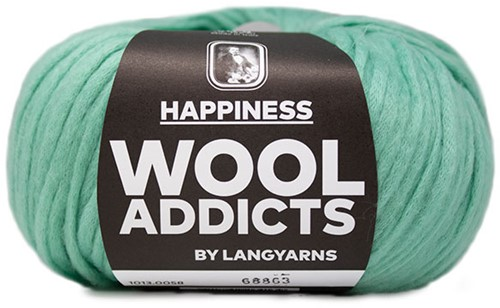 Wooladdicts Happy Habit Vest Breipakket 6 L Mint