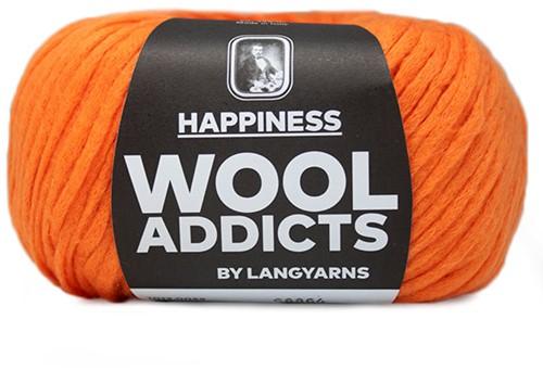 Wooladdicts Happy Habit Vest Breipakket 7 L Orange