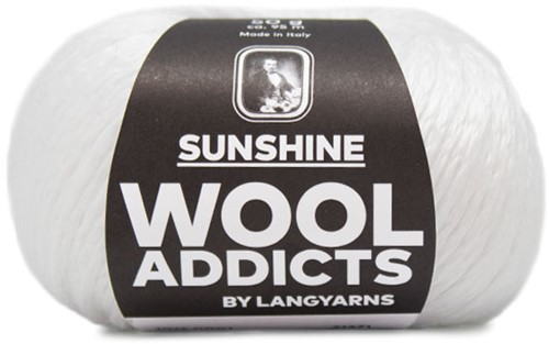 Wooladdicts Peach Puff Vest Breipakket 1 White