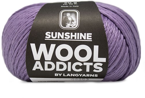 Wooladdicts Peach Puff Vest Breipakket 2 Lilac