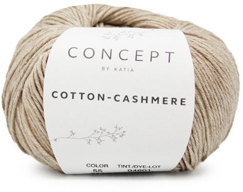 Cotton-Cashmere Bolerovestje Breipakket 1 50/52 Camel