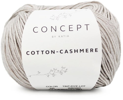Cotton-Cashmere Bolerovestje Breipakket 2 46/48 Stone Grey