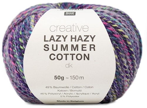 Lazy Hazy Summer Cotton Vest Breipakket 1 36/38 Purple