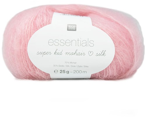 Essentials Super Kid Mohair Loves Silk Vest Breipakket 1 42/46 Pink