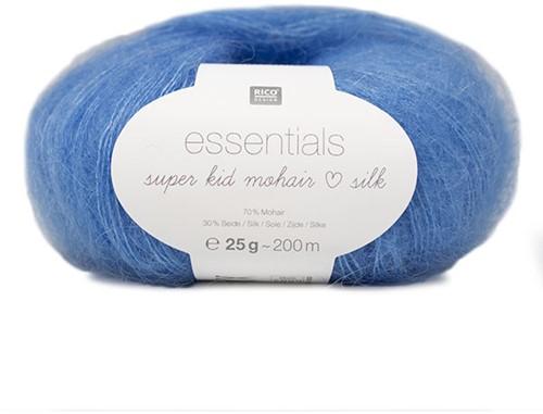 Essentials Super Kid Mohair Loves Silk Vest Breipakket 2 42/46 Azur