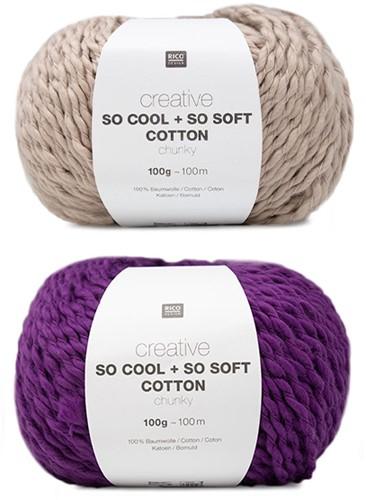 Creative So Cool + So Soft Strepentrui Breipakket 1 36/38 Powder/Lila