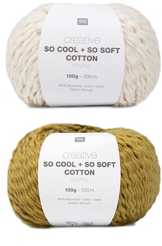 Creative So Cool + So Soft Strepentrui Breipakket 2 36/38 Cream/Mustard